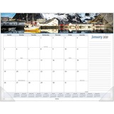 At-A-Glance Panoramic Seascape Scene Monthly Desk Pad