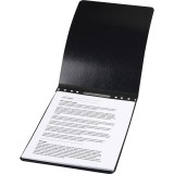 "ACCO® PRESSTEX® Report Covers, Top Binding for Letter Size Sheets, 2"" Capacity, Black"