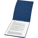 "ACCO® PRESSTEX® Report Covers, Top Binding for Letter Size Sheets, 2"" Capacity, Dark Blue"