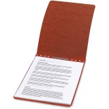 "ACCO® PRESSTEX® Report Covers, Top Binding for Letter Size Sheets, 2"" Capacity, Red"
