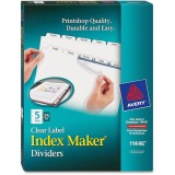 Avery&reg Index Maker Print & Apply Clear Label Dividers with White Tabs