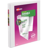 "Avery® Durable View Binder, 1/2"" Slant Rings, 120-Sheet Capacity, DuraHinge(R), White (17002)"