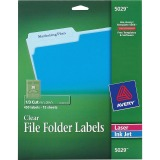 "Avery® Glossy Clear File Folder Labels, 2/3""?x3-7/16""?, 450 Labels (5029)"