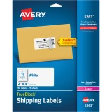 "Avery® TrueBlock(R) Shipping Labels, Sure Feed(TM) Technology, Permanent Adhesive, 2"" x 4"", 250 Labels (5263)"