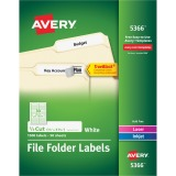 Avery&reg Permanent File Folder Labels with TrueBlock Technology