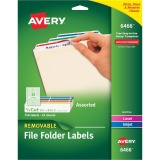 "Avery® Removable File Folder Labels, 2/3""?x3-7/16""?, 750 Assorted Labels (6466)"