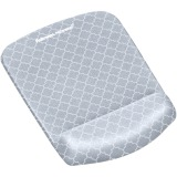 Fellowes PlushTouch™ Mouse Pad Wrist Rest with Microban® - Gray Lattice