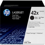 HP 42XD Original Toner Cartridge - Dual Pack