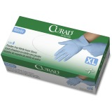 Curad Powder-free Nitrile Disposable Gloves, X-Large, 100/Box