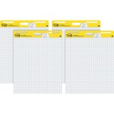 Post-it Self-Stick Easel Pads Value Pack, 25 in x 30 in, White with Faint Grid
