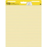 Post-it Self-Stick Easel Pads, 25 in x 30 in, Yellow with Faint Rule