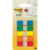 "Post-it® Flags in Portable Dispenser, 1/2"" Wide, Assorted Colors, 100 Flags/Pack"