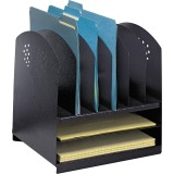 Safco 2 Horizontal/6 Upright Combination Desk Rack