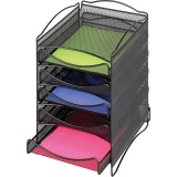 Safco 5-Compartment Mesh Desktop Organzier
