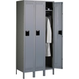 Tennsco Single Tier Three Wide Lockers with Legs