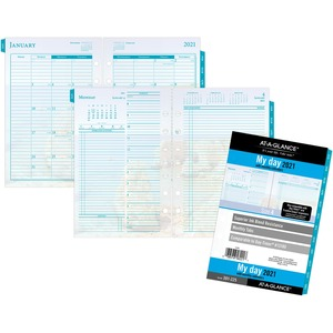 At-A-Glance Seascapes 7-ring Desk Planner Refill
