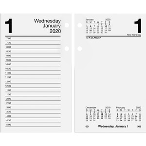 At-A-Glance Loose-leaf Daily Desk Calendar Refill