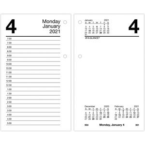 At-A-Glance Daily Calendar Pocket Refill