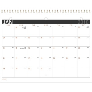 At-A-Glance Contemporary Monthly Wall Calendar