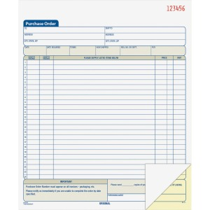 Adams 2-Part Carbonless Purchase Order Book