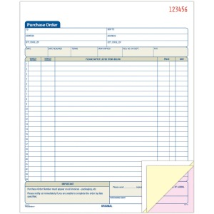 Adams 3-Part Carbonless Purchase Order Book