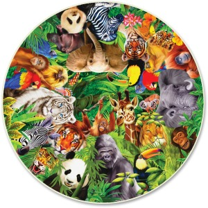 A Broader View Wild Animals 500-piece Round Puzzle