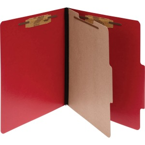 Acco ColorLife PRESSTEX 4-Part Classification Folders