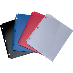 Wilson Jones® Snapper Folder, Letter Size, Two Pockets, Classic Color Assortment