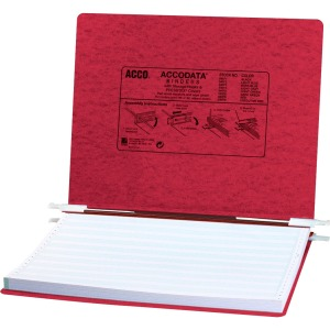 "ACCO® PRESSTEX® Covers w/ Hooks, Unburst 14 7/8"" x 11"" Sheets, Executive Red"