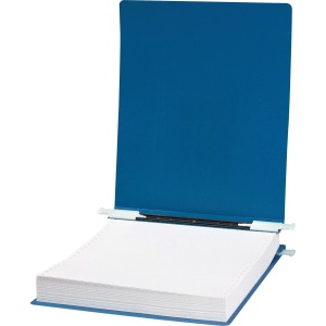 "ACCO® 23 pt. ACCOHIDE® Covers with Storage Hooks, For Unburst Sheets, 9 1/2"" x 11"" Sheet Size, Blue"