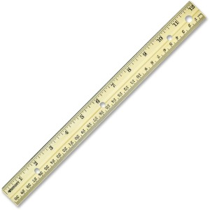 Westcott Metal Edge English/Metric Wood Ruler