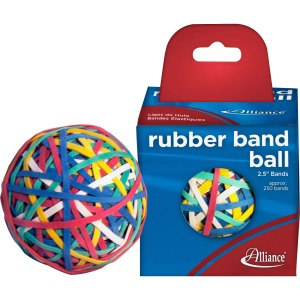 Alliance Rubber 00159 Rubber Band Ball - 250 Advantage Rubber Bands Included