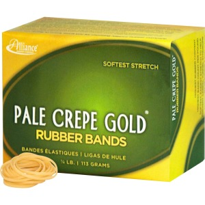 Alliance Rubber 20129 Pale Crepe Gold Rubber Bands - Size #12