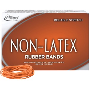 Alliance Rubber 37196 Non-Latex Rubber Bands - Size #19