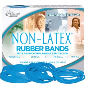 Alliance Rubber 42549 Non-Latex Rubber Bands with Antimicrobial Protection - Assorted sizes (#54)