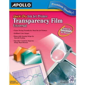 Apollo® Quick Dry Universal Ink Jet Printer Film, Color, 50 Sheets