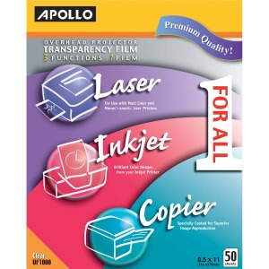 Apollo® Multifunction Universal Film, Without Stripe, 50 Sheets
