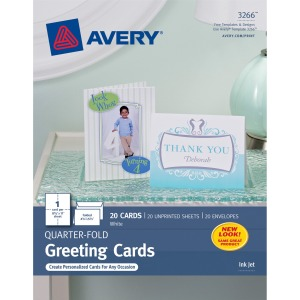 Avery® Inkjet Greeting Card