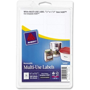 Avery Removable ID Labels