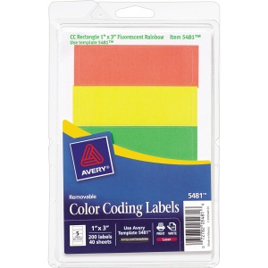 Avery® Print or Write Color-Coding Labels