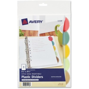 Avery® Style Edge Plastic Insertable Dividers