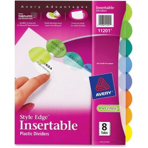 Avery® Style-Edge Insertable Dividers