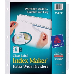 Avery® Index Maker Extra-Wide Print & Apply Clear Label Dividers