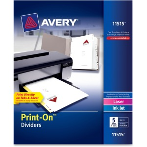 Avery® Customizable Print-On Dividers
