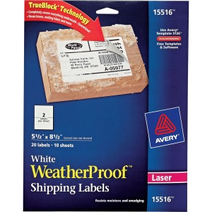 Avery® Weatherproof Mailing Labels