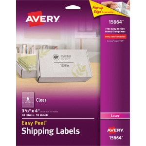 Avery® Matte Clear Easy Peel Shipping Labels