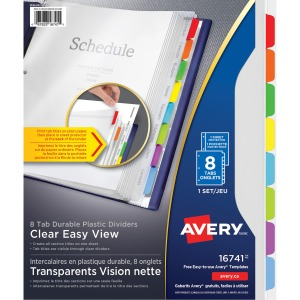 Avery® Easy View Durable Dividers