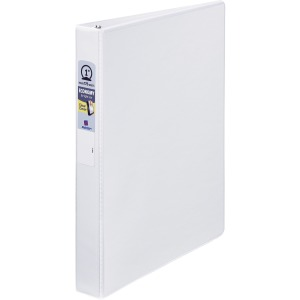 "Avery® Economy View Binders, 1"" Round Rings, Concealed Rivets, 175-Sheet Capacity, White (21085)"