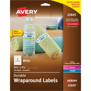 Avery White Conformable Durable Wraparound Labels