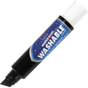 Avery® Marks A Lot(R) Jumbo Washable Marker, Chisel Tip, Black (24158)